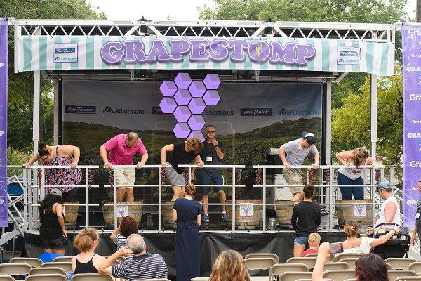 Grape stomping at GrapeFest