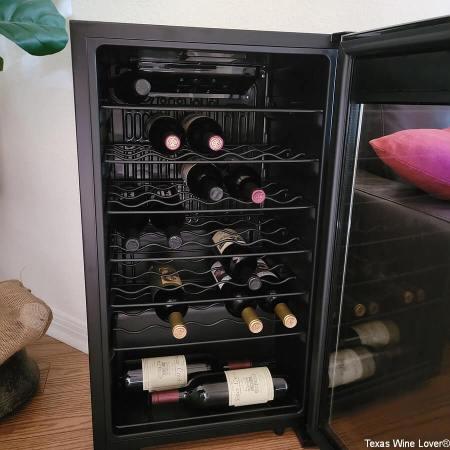 Open NewAir wine cooler
