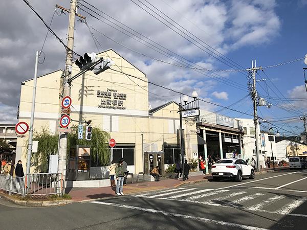 京阪・出町柳駅。叡山電鉄な乗り入れており鞍馬・貴船への玄関口になっています。