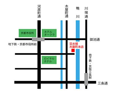 豆水楼の地図