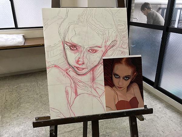 過去の作品はグラフィックソフトで描き、水彩画紙にインクジェットでプリントしてました。