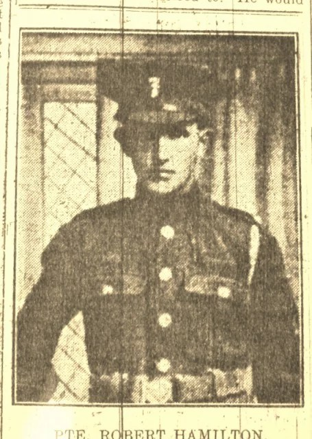 Private Robert Hamilton (from Northern Standard May 1918)
