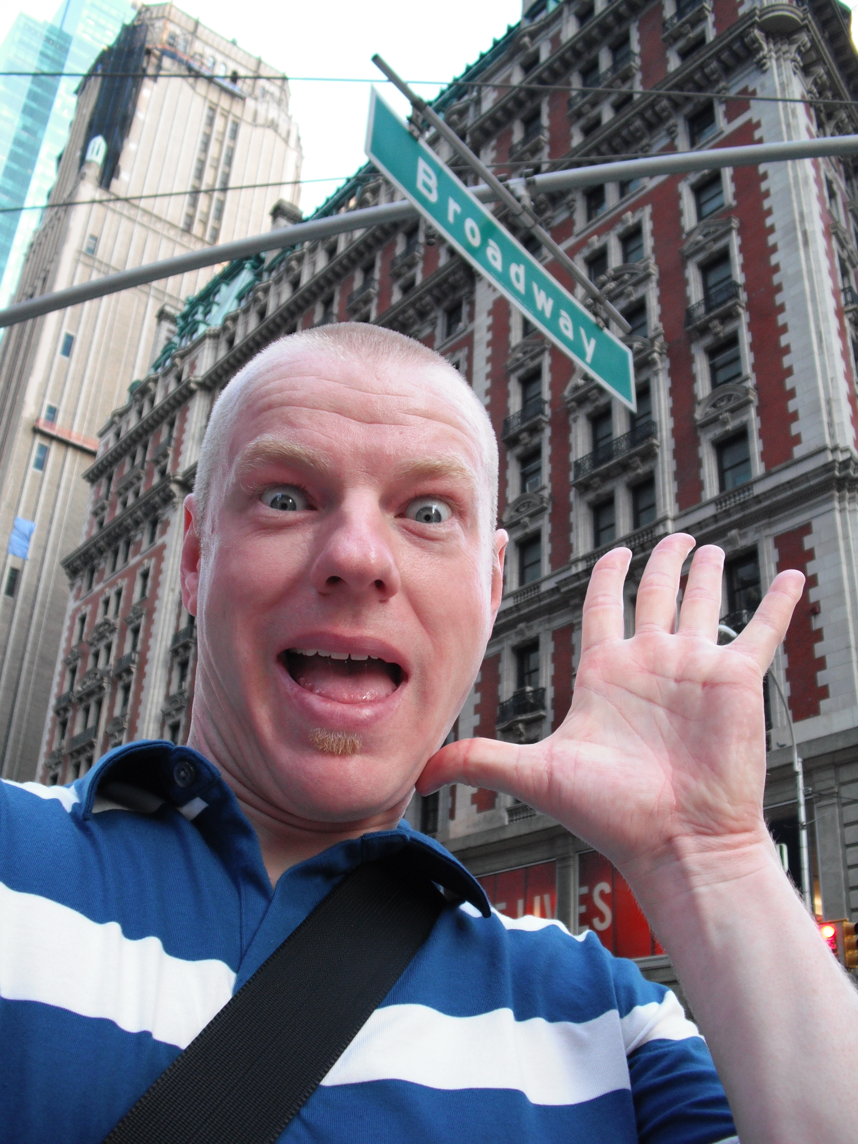 on Broadway!  I was just trying to give a Broadway pose.  I just look crazed.  It was fun trying to get this shot...