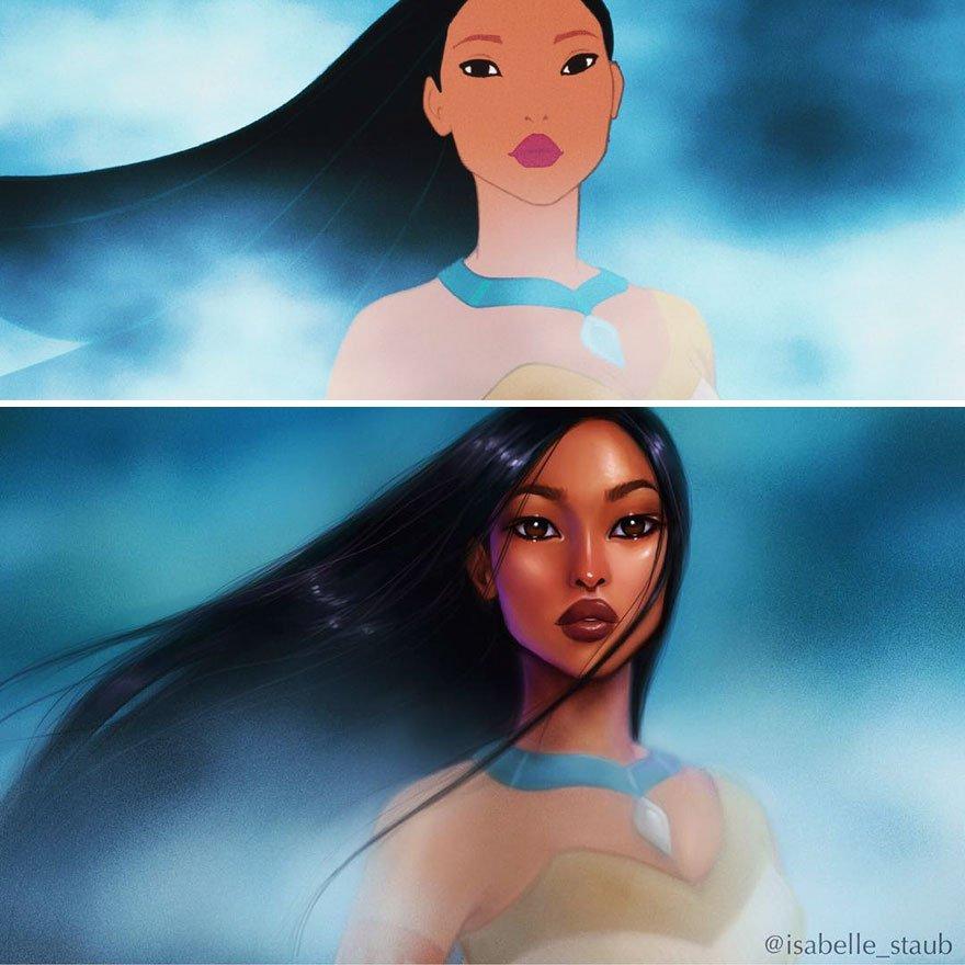Дизайнер поменяла диснеевских принцесс к лучшему