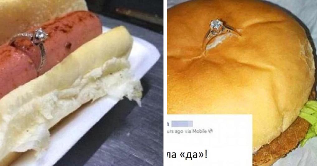 Идеи, как сделать предложение с помощью еды