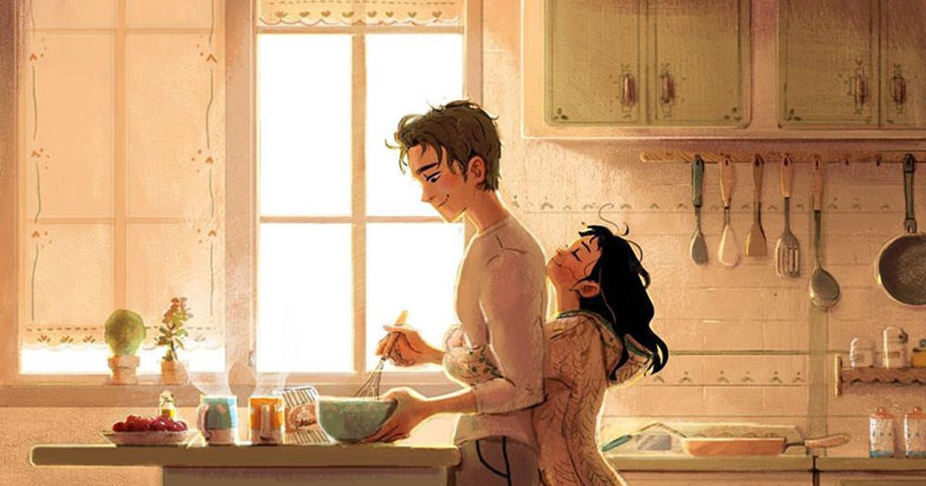 Самые нежные проявления любви в душевных комиксах