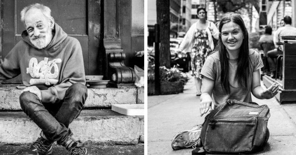 Портреты бездомных и жизненные истории, которые за ними стоят