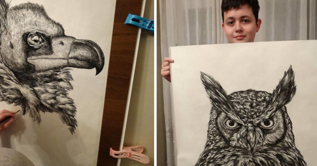 15-летний вундеркинд нарисовал невероятную энциклопедию о животных