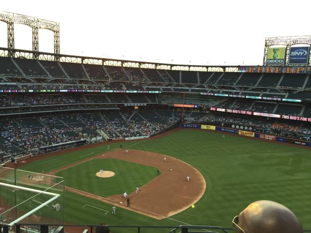 We were treated to a Mets Game!