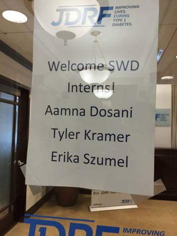 My first day arriving at the office!
