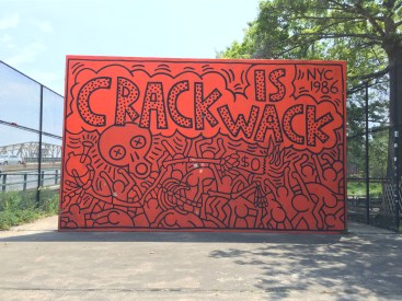 Hand-painted by Keith Haring in 1987