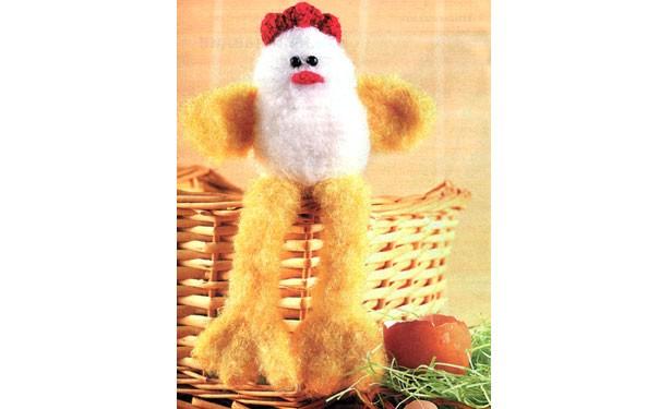 Цыпленок с большими лапками. Крючком. Описание