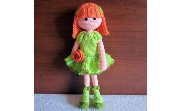 Вязаная кукла Клэр. Описание