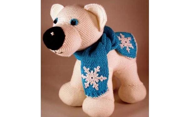 """Вязаная крючком игрушка """"Полярный медведь"""". Описание"""