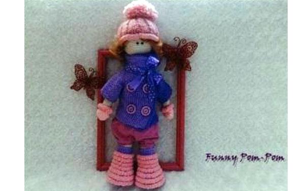 Вязаная крючком кукла. Тильда Зима. Описание