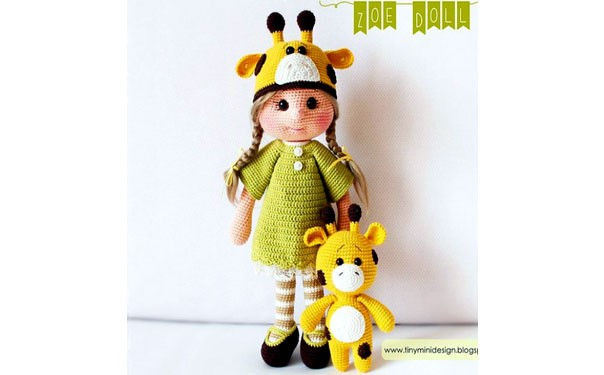 Вязаная крючком кукла Зоя. Описание