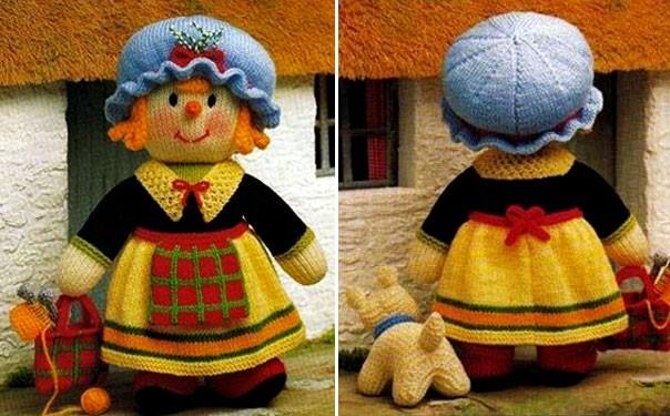 Вязаная спицами кукла «Матушка Мораг»