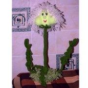 Вязаный цветок одуванчик. Схема