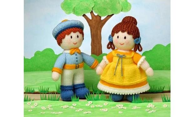 Вязаные куклы Анабель и Эдвард. Описание