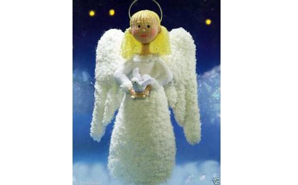Вязаная кукла Рождественский ангел Анжелина. Описание
