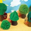 Деревья и кусты. Схема вязания крючком
