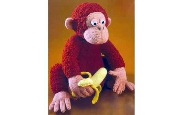 Вязаная горилла Гордон. Описание