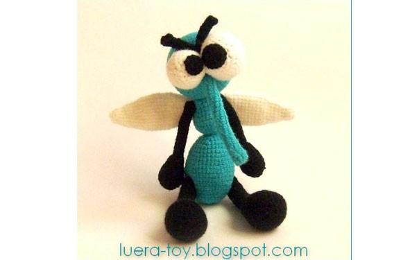 Комар пискун. Схема вязания крючком