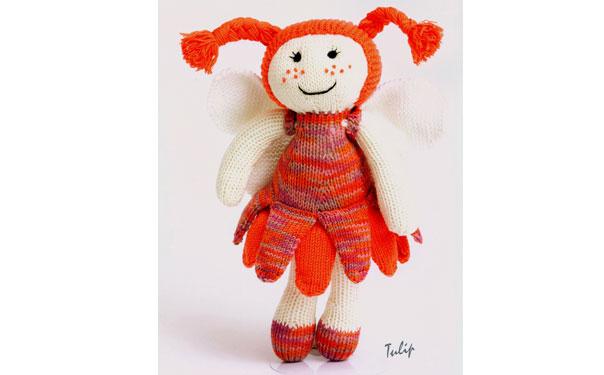Вязаная спицами кукла Тюльпан. Описание