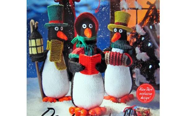 Вязаные Рождественские пингвины. Описание