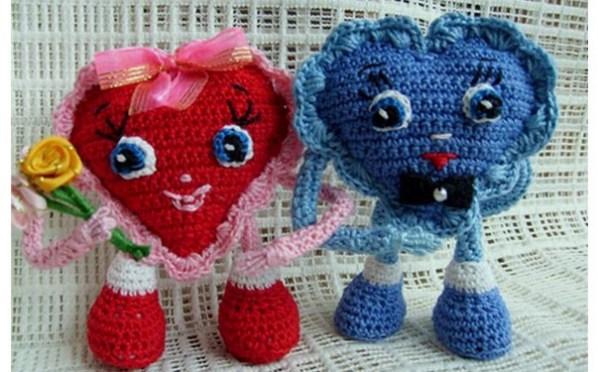 вязаные сердечки первое свидание схема тыква вязаные игрушки