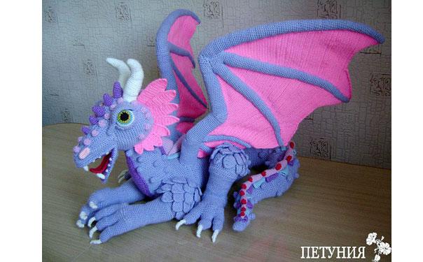 Вязаный большой дракон. Схема