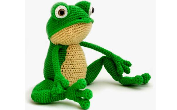 Вязаный лягушонок Фриц. Схема