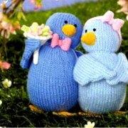 """Вязаные птички """"Поющие сердца"""". Описание"""