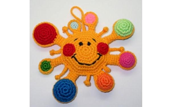 Вязаное солнце. Схема