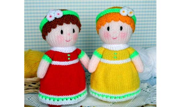 Вязаные куклы Молли и Люси