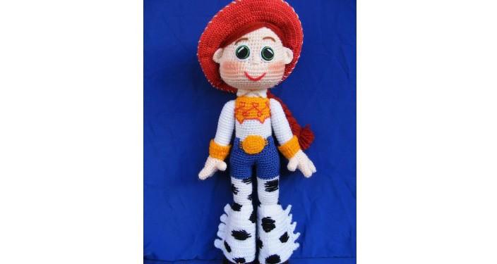 Вязаная кукла Джесси. Схема