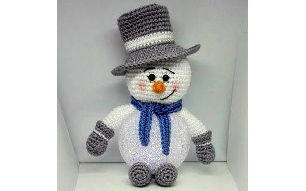 Вязаный снеговик. Схема