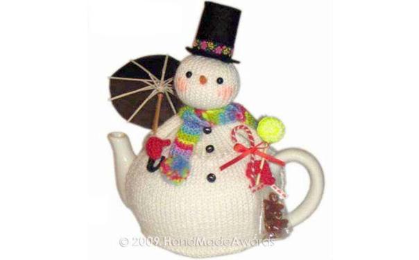 "Грелка на чайник ""Снеговик"""