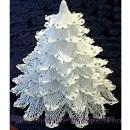 Вязаная крючкомажурная белая елка. Схема