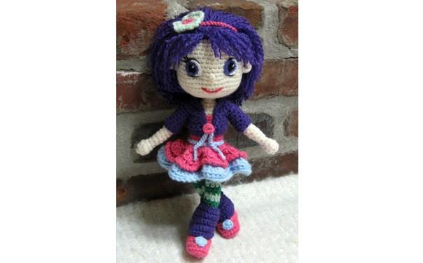 Вязаная кукла Сливка. Схема