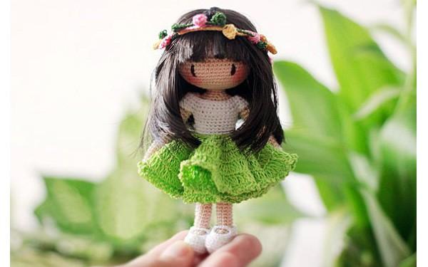 Вязаная куколка Fairyfinfin. Схема