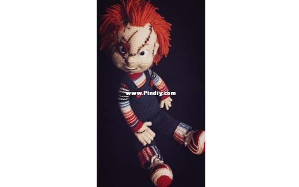 Вязаный крючком Bad Boy Chuckie. Схема