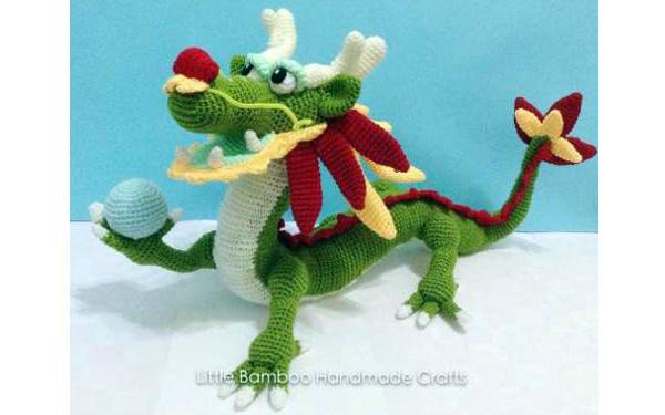 Вязаный китайский дракон. Схема