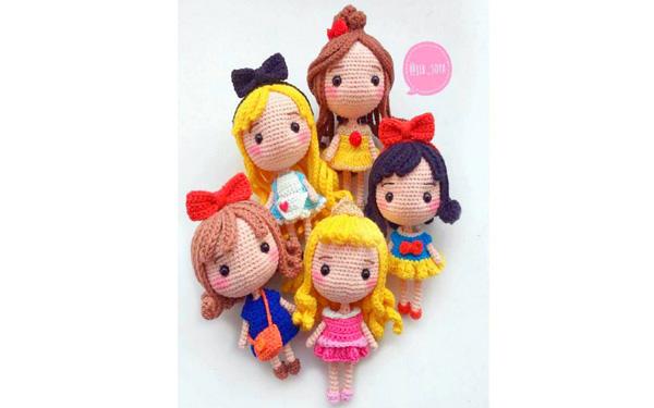 Вязаны куклы-принцессы. Схема