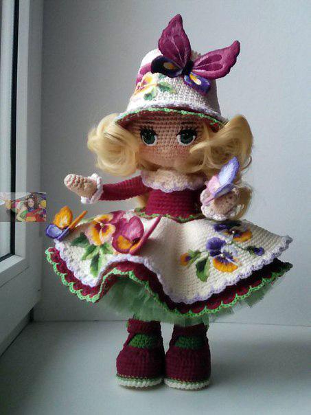 Вязаная юбка для куклы от О.Архиповой