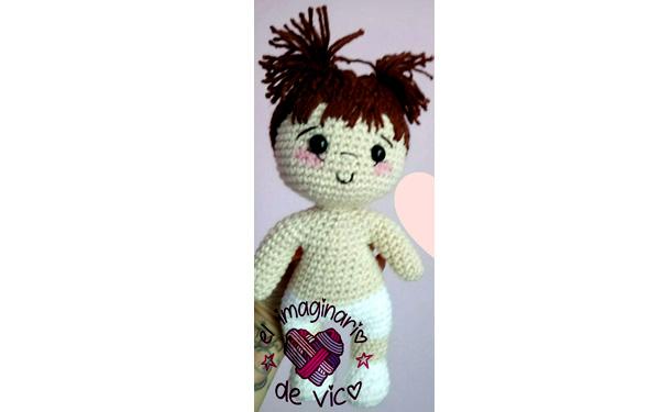 Вязаная маленькая куколка. Схема