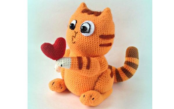 Вязаный котенок Персик. Схема