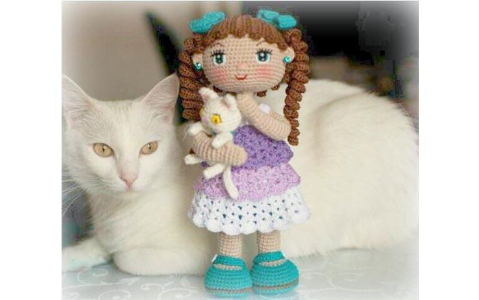 Вязаная кукла Сашенька. Схема