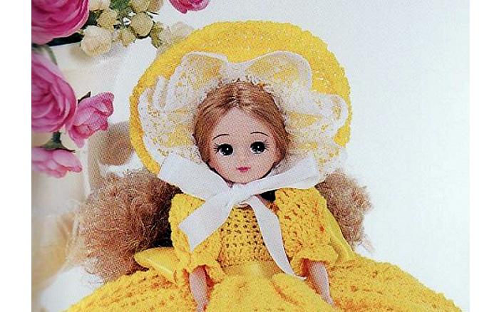 Схема вязания крючком капора для куклы