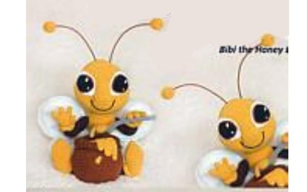 Вязаная пчелка БиБи. Схема